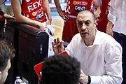 Esposito Vincenzo time out Pistoia, RED OCTOBER MIA CANTU' vs THE FLEXX PISTOIA, Campionato Lega Basket Serie A 2017/2018 21^ giornata, PalaDesio Desio 11 marzo 2018 - FOTO Bertani/Ciamillo