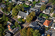 Nederland, Gelderland, Hummelo, 03-10-2010; Gouden Karper, hotel restaurant midden in het dorp..luchtfoto (toeslag), aerial photo (additional fee required).foto/photo Siebe Swart