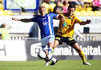 Fotball , 27. julii 2013 , Tippeligaen , Eliteserien , <br /> Lillestrøm - Molde<br /> Palmi Rafn Palmason , LSK<br /> Per Egil Flo , Molde