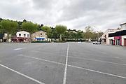 empty parking lot during Covid 19 crisis France Limoux April 2020