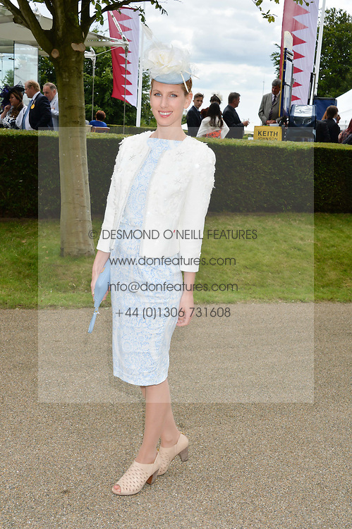 SUSANNA WARREN at the Qatar Goodwood Festival - Ladies Day held at Goodwood Racecourse, West Sussex on 30th July 2015.