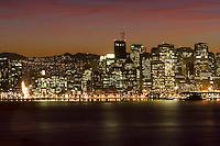 San Francisco at night.