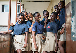 4 November 2019, Vriginia, Liberia: Students at Ricks Institute. The Liberia Baptist Convention runs Ricks Institute, a day and boarding school for currently 496 students from kindergarten up through 12th grade.