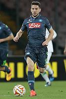 Dries Mertens Napoli, <br /> Napoli 23-04-2015 Stadio San Paolo <br /> Football Calcio UEFA Europa League Quarter-finals, second len. Napoli - Wolfsburg.<br /> Foto Cesare Purini / Insidefoto