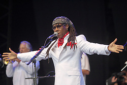 Chic featuring Nile Rodgers play the main stage..Sunday at Rockness 2012..©Michael Schofield