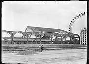 building of an expo hall at Jardins Trocadero for the Exposition Universelle de Paris 1889