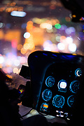 September 7-9, 2017: Helicopter cockpit with lights from Las Vegas