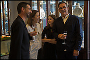 BRIAN PARKES; LOUISE OLSEN; CAMILLE ORMANDY; STEVE ORMANDYDinosaur Designs launch of their first European store in London. 35 Gt. Windmill St. 18 September 2014