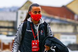 Laura Rafferty of Bristol City Women arrives at Twerton Park prior to kick off - Mandatory by-line: Will Cooper/JMP - 18/10/2020 - FOOTBALL - Twerton Park - Bath, England - Bristol City Women v Birmingham City Women - Barclays FA Women's Super League