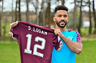 Shay Logan signs for Heart of Midlothian FC, portrait photographs at Oriam Sports Performance Centre, Riccarton, Scotland on 1 April 2021.