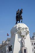 Plaza San  Martin, Statue, Jose de San Martin, Lima, Peru
