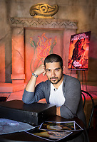 Wilmer Valderrama checks out the From Dusk till Dawn maze with Halloween Horror Nights creative director John Murdy at Universal Studios Hollywood in Universal City, CA. Sept. 9, 2014. Photo by David Sprague