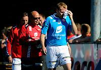 Fotball<br /> 7. juni 2008<br /> 2. runde i NM<br /> Austevoll - Brann 2 - 3<br /> Arman Bjørnsson , Brann har fått et kutt over øyet<br /> Foto: Astrid M. Nordhaug