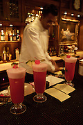 Raffles Hotel. Singapore Slings at the famous long bar (used to be in another spot of the hotel, originally).