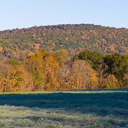 A hayfield at the Smyrski Farm in New Milford, Connecticut.  Weantinoge Heritage Land Trust property.