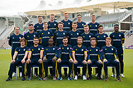 Hampshire County Cricket Club Royal London One Day Cup team photo during the 2019 press day for Hampshire County Cricket Club at the Ageas Bowl, Southampton, United Kingdom on 27 March 2019.