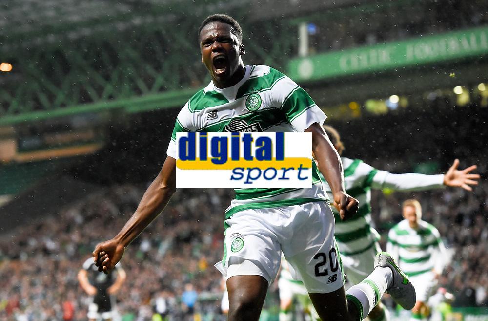 29/07/15 UEFA CHAMPIONS LEAGUE 3RD RND QUALIFIER 1ST LEG<br /> CELTIC v QARABAG FK<br /> CELTIC PARK - GLASGOW<br /> Celtic's Dedryck Boyata celebrates his goal
