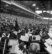 11/06/1961<br /> 06/11/1961<br /> 11 June 1961<br /> Royal Visit to Ireland by Princess Grace and Prince Rainier of Monaco. The couple attend Croke Park for the opening ceremony of the Dublin International Festival of Music and Arts, in which the National Operatic Orchestra of Monaco was participating.