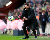 Atletico de Madrid's coach Diego Pablo Cholo Simeone during La Liga match. March 4,2018. (ALTERPHOTOS/Acero)
