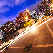 Intersection of 9th and Wyandotte Streets, downtown Kansas City, Missouri.