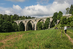 June 17, 2017 - Stanczyki, Poland - Stanczyki bridges are seen on 17 June 2017  in Stanczyki, Poland. Bridges in Stanczyki are one of the highest bridges in Poland with over 36 m height and 180 length. Bridges are part of the non-working railway line between Goldap and Zytkiejmy in eastern Poland near Russia and Lithuania borders. (Credit Image: © Michal Fludra/NurPhoto via ZUMA Press)