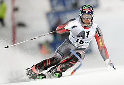 26.01.2016, Planai, Schladming, AUT, FIS Weltcup Ski Alpin, Schladming, Slalom, Herren, 1. Durchgang, im Bild David Chodounsky (USA) // David Chodounsky of the USA competes during his 1st run of men's Slalom Race of Schladming FIS Ski Alpine World Cup at the Planai in Schladming, Austria on 2016/01/26. EXPA Pictures © 2016, PhotoCredit: EXPA/ Erich Spiess