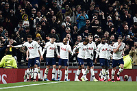 Football - 2019 / 2020 Emirates FA Cup - Fourth Round, Replay: Tottenham Hotspur vs. Southampton<br /> <br /> Tottenham Hotspur celebrate their winning goal, a penalty from Son Heung-Min, at The Tottenham Hotspur Stadium.<br /> <br /> COLORSPORT/ASHLEY WESTERN