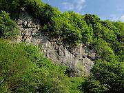 Gus Hudgins climbing Lightweight, 7c,Two tier buttress, Cheedale