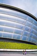 Visitors at The Hydro Arena at the Scottish Exhibition and Conference Centre, SECC, venue for the Commonwealth Games in Glasgow, Scotland