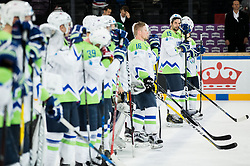 Blaz Gregorc of Slovenia looks dejected after the 2017 IIHF Men's World Championship group B Ice hockey match between National Teams of Slovenia and Norway, on May 9, 2017 in Accorhotels Arena in Paris, France. Photo by Vid Ponikvar / Sportida