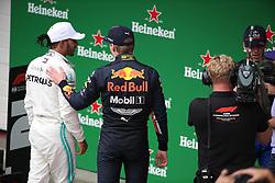 November 17, 2019, Sao Paulo, Brazil: xa9; Photo4 / LaPresse.17/11/2019 Sao Paulo, Brazil.Sport .Grand Prix Formula One Brazil 2019.In the pic: Max Verstappen (NED) Red Bull Racing RB15 and Lewis Hamilton (GBR) Mercedes AMG F1 W10 (Credit Image: © Photo4/Lapresse via ZUMA Press)