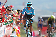 Nairo Quintana (COL, Movistar) during the 73th Edition of the 2018 Tour of Spain, Vuelta Espana 2018, Stage 13 cycling race, Candas Carreno - La Camperona 174,8 km on September 7, 2018 in Spain - Photo Luca Bettini / BettiniPhoto / ProSportsImages / DPPI