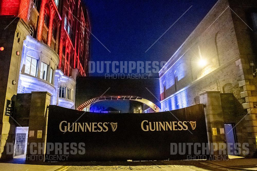 DUBLIN - Guinness Storehouse bij een Receptie in de Gravity Bar van het Guinness Storehouse in Dublin.
