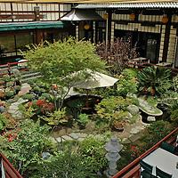 birds eye courtyard dining room