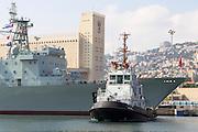A Chinese Navy ship visits Haifa port, Israel August 2013