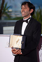 Actor Marcello Fonte winner of the Best Actor Prize for the film Dogman at the Award Winner's photo call at the 71st Cannes Film Festival, Saturday 19th May 2018, Cannes, France. Photo credit: Doreen Kennedy
