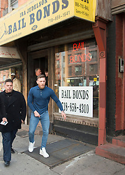 EXCLUSIVE: **NO WEB UNTIL 4PM EDT, APRIL 7** Disgraced fighter, Conor McGregor is seen leaving a Bail Bonds office in Brooklyn after a judge set at $50,000 which was covered by bail bondsman, Ira Judson. ***NO NEW YORK DAILY NEWS, NO NEW YORK TIMES, NO NEWSDAY***. 06 Apr 2018 Pictured: Conor McGregor. Photo credit: Richard Harbus / MEGA TheMegaAgency.com +1 888 505 6342