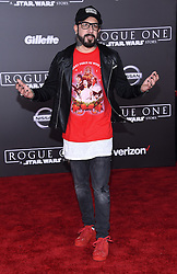 Celebrities arrive at the 'Rogue One: A Star Wars Story' movie premiere in Hollywood, California. 10 Dec 2016 Pictured: AJ McLean. Photo credit: American Foto Features / MEGA TheMegaAgency.com +1 888 505 6342