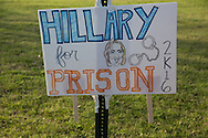 Hillary For Prison sign  outside of a Donald Trump Rally in Mississippi
