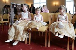 Bridesmaids at a registry office wedding,