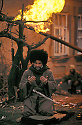 Grozny, Chechnya, January 1995..The Battle of Grozny..Chechen rebels and Russian forces fight for control of the capital city after this Russian republic declared independence..Chechen fighter praying near the front line..