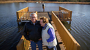 ADRIAN, GA - DEC., 15, 2016: Susie and Allen Dykes on their property that features a mix of pines, hardwoods and fruit trees, Thursday, December 9, 2016, in Adrain, Ga. (Photo by Stephen B. Morton for Georgia Forestry Magazine)