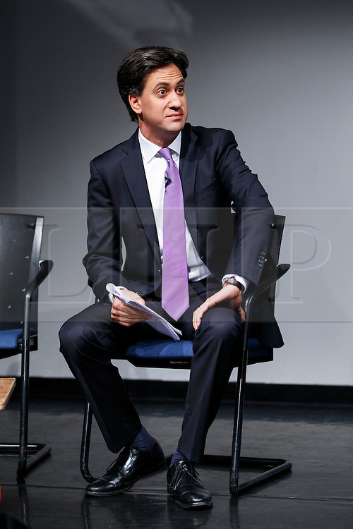 © Licensed to London News Pictures. 19/06/2014. LONDON, UK. Ed Miliband delivering a speech at 'IPPR Condition of Britain' book launch in east London, on Thursday 19 June 2014. Photo credit : Tolga Akmen/LNP