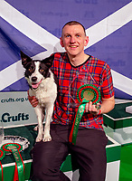 Euan Paterson and Crazee from Scotland win the International Invitation Agility Competition Crufts 2020 held at the NEC Birmingham.photo Mark Anton Smith