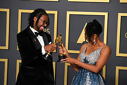 February 9, 2020, Los Angeles, California, USA: MATTHEW A. CHERRY AND KAREN RUPERT TOLIVER in the Press Room during the 92nd Academy Awards, presented by the Academy of Motion Picture Arts and Sciences (AMPAS), at the Dolby Theatre in Hollywood. (Credit Image: © Kevin Sullivan via ZUMA Wire)