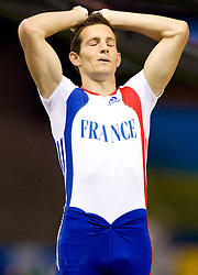 Renaud Lavillenie of France reacts during the men's Pole Vault Final during day eight of the 12th IAAF World Athletics Championships at the Olympic Stadium on August 22, 2009 in Berlin, Germany. (Photo by Vid Ponikvar / Sportida)