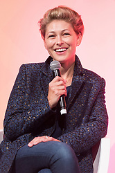 © Licensed to London News Pictures. 11/10/2018. London, UK. Emma Willis in conversation at the Festival of Marketing held at Tobacco Dock. Photo credit: Ray Tang/LNP