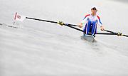 Ottensheim, AUSTRIA.   GBR LW1X, Mathilde PAULS, moves away from the start in their morning heat, at the 2008 FISA Senior and Junior Rowing Championships,  Linz/Ottensheim. Tuesday,  22/07/2008.  [Mandatory Credit: Peter SPURRIER, Intersport Images] Rowing Course: Linz/ Ottensheim, Austria