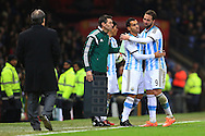 Carlos Tevez replaces Gonzalo Higuain of Argentina - Argentina vs. Portugal - International Friendly - Old Trafford - Manchester - 18/11/2014 Pic Philip Oldham/Sportimage