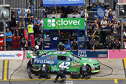 September 30, 2018 - Concord, North Carolina, United States of America - Kyle Larson (42) brings his car down pit road for service during the Bank of America ROVAL 400 at Charlotte Motor Speedway in Concord, North Carolina. (Credit Image: © Chris Owens Asp Inc/ASP via ZUMA Wire)